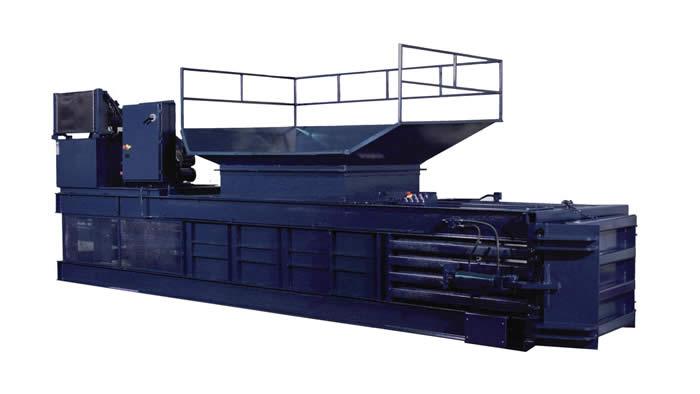 FOAM and FIBER HORIZONTAL CLOSED END BALER