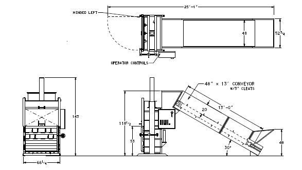 Textile Baler High Volume Diagram