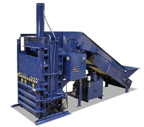 Textile Baler with Rear Chute and Conveyor
